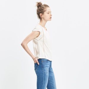 Madewell Symphonic Swing Tee in Natural